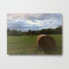A bale of hay Metal Print
