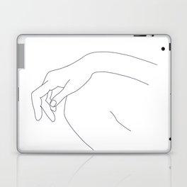 Hand on knee black and white illustration - Ana Laptop & iPad Skin