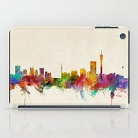 south africa iPad Cases featuring Johannesburg South Africa Skyline by artPause