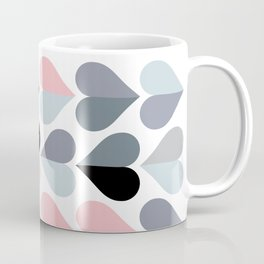 Love and Kisses in Pink and Grey Coffee Mug