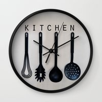 kitchen Wall Clocks featuring KITCHEN by MadiS