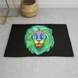 Psychedelic Nature of the Lion  Rug