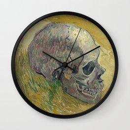 Vincent Van Gogh - Skull. Wall Clock