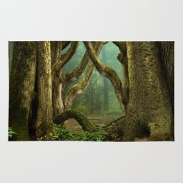 Celtic druids forest Rug