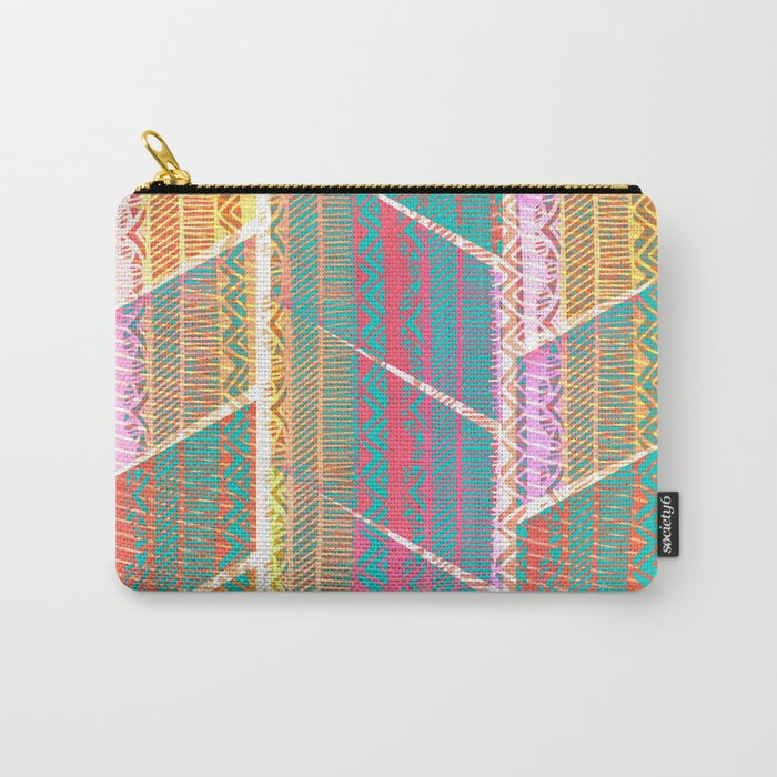 370 20 Neon Rustic Bohemian Shag Carry-All Pouch