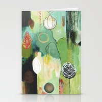 """flora bowley Stationery Cards featuring """"Fly Home"""" Original Painting by Flora Bowley by Flora Bowley"""