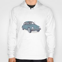 vw Hoodies featuring VW Beetle by Lara Trimming