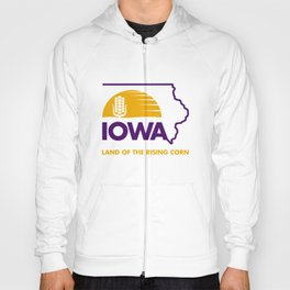 Iowa: Land of the Rising Corn - Purple and Gold Edition Hoody