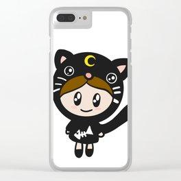 Zoezoe kawaii cat outfit Clear iPhone Case