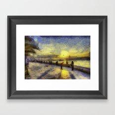 Bosphorus Sunset Van Gogh Framed Art Print