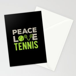 Tennis Funny Quote Stationery Cards