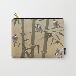 Sparrows And Bamboo Carry-All Pouch