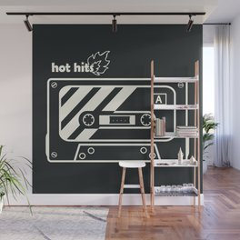 Black and White Hot Hits Wall Mural