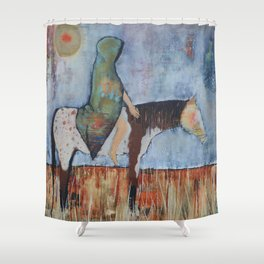 """""""A Horse With no Name"""" Shower Curtain"""