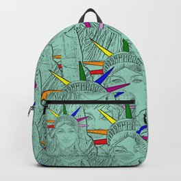 Gay Madonna as the Statue of Liberty! Cool Gay Artwork Backpack