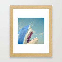 Shark! Framed Art Print