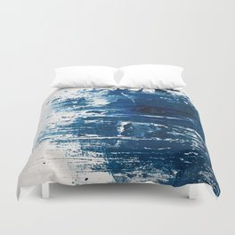Tranquil: a minimal, abstract piece in blue by Alyssa Hamilton Art Duvet Cover