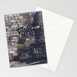 Pineapple in street Stationery Cards