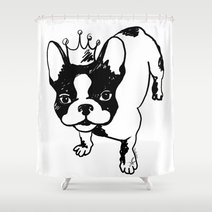 French Bulldog Shower Curtain By Pendientera