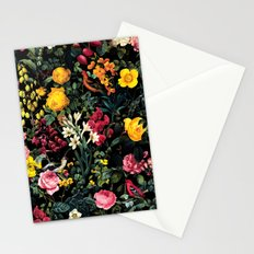 Floral and Birds Pattern Stationery Cards