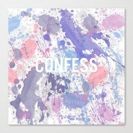 Confess - inverted Canvas Print