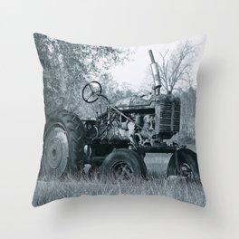Farmer's Best Friend - B & W Throw Pillow