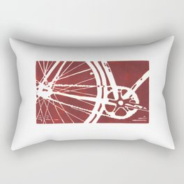 Dark Red Bike Rectangular Pillow