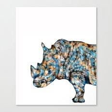 Rhino-no text Canvas Print