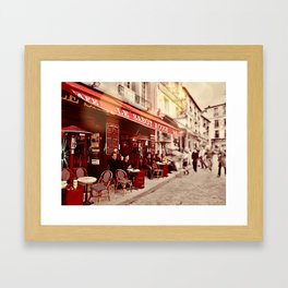 Coffehouse, Sidewalk Cafe Framed Art Print