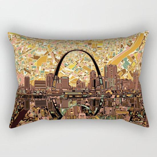st louis city skyline Rectangular Pillow