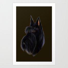Scottie Portriat Art Print