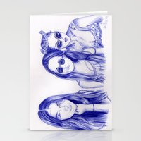 haim Stationery Cards featuring Haim Sisters by annelise johnson