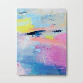 Dreamy Abstract pink Art  Metal Print