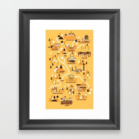 Survivors Map Framed Art Print
