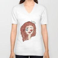 artpop V-neck T-shirts featuring Artpop by Madison Neumann