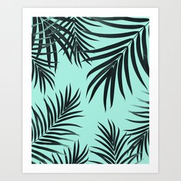 Palm Leaves Pattern Summer Vibes #7 #tropical #decor #art #society6 Art Print