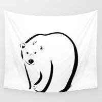polar bear Wall Tapestries featuring Polar bear by Katy Shorttle