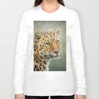 leopard Long Sleeve T-shirts featuring Leopard by Pauline Fowler ( Polly470 )