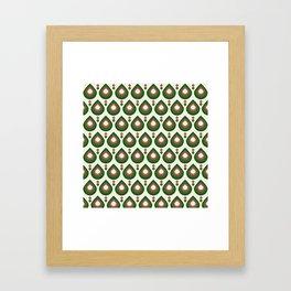 Drops Retro Confete Framed Art Print