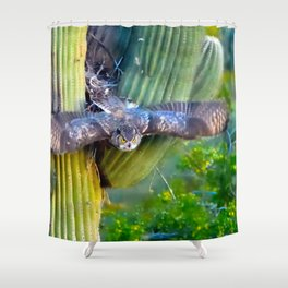 Mama Owl Headed Out of the Nest for the Evening Hunt Shower Curtain