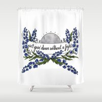 wolves Shower Curtains featuring wolves by girlwiththetea