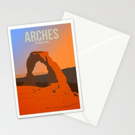 Arches National Park - Travel Poster -  Minimalist Art Print Stationery Cards
