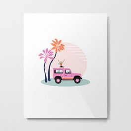 In all weather - 4x4 vacay Metal Print