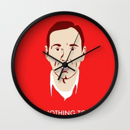 'An Ordinary Guy with Nothing to Lose' - American Beauty Poster Wall Clock