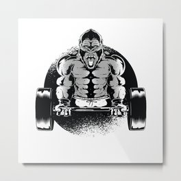 Muscle Building Chimpanzee Testosterone Metal Print