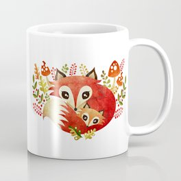 Fox Mom & Pup Coffee Mug