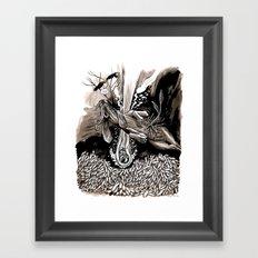 A dream of plague dogs Framed Art Print