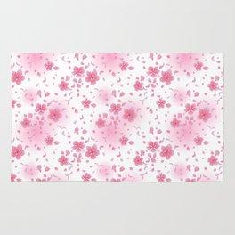 Pretty Pink Blossom Pattern Rug