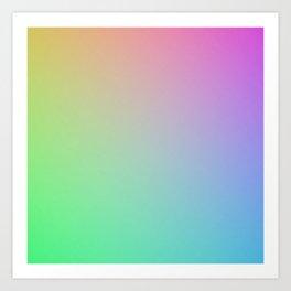 gradient test pattern Art Print