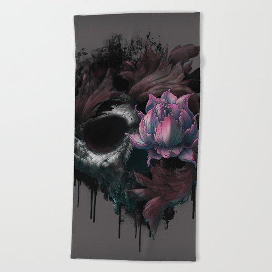 Death Blooms Beach Towel